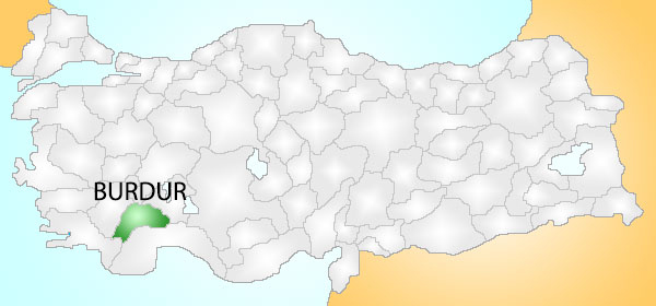 Burdur Turkey_Provinces_locator